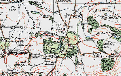 Old map of Langhill Wood in 1924