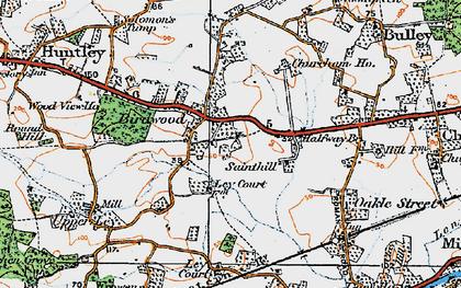 Old map of Birdwood in 1919
