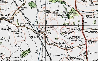 Old map of Wiske Ho in 1925