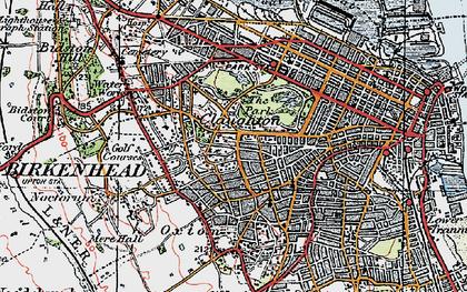 Old map of Birkenhead in 1923