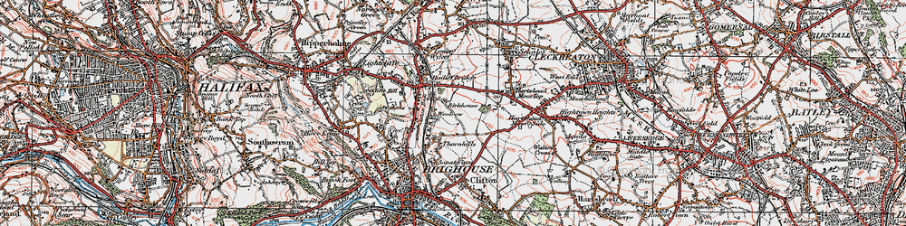 Old map of Woolrow in 1925
