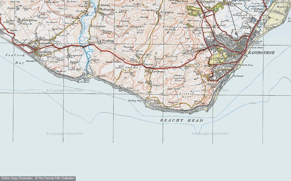 Map of Birling Gap, 1920 - Francis Frith Map Of The Gap on