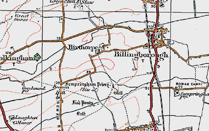 Old map of Birthorpe in 1922