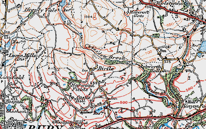 Old map of Ashworth Hall in 1924