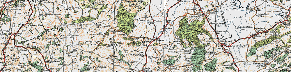 Old map of Willey Lodge in 1920