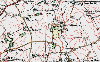 Old map of Biscathorpe in 1923