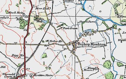 Old map of Yorbus Grange in 1925