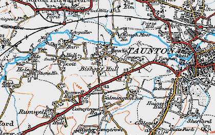 Old map of Bishop's Hull in 1919
