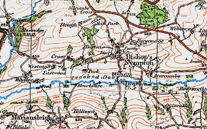 Old map of Yeo Barton in 1919