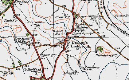 Old map of Windmill Hill in 1919