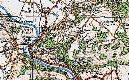 Old map of Bishop's Wood in 1919