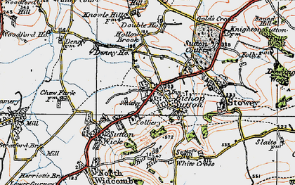 Old map of Bishop Sutton in 1919