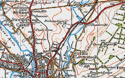 Old map of Bishopdown in 1919