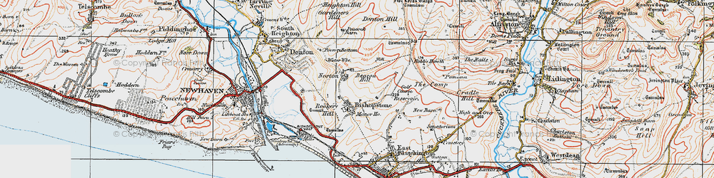 Old map of Tide Mills in 1920