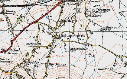 Old map of Bishopsworth in 1919