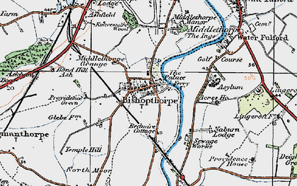 Old map of Acres Ho in 1924