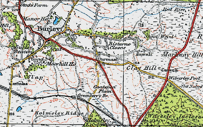 Old map of Wilverley Post in 1919