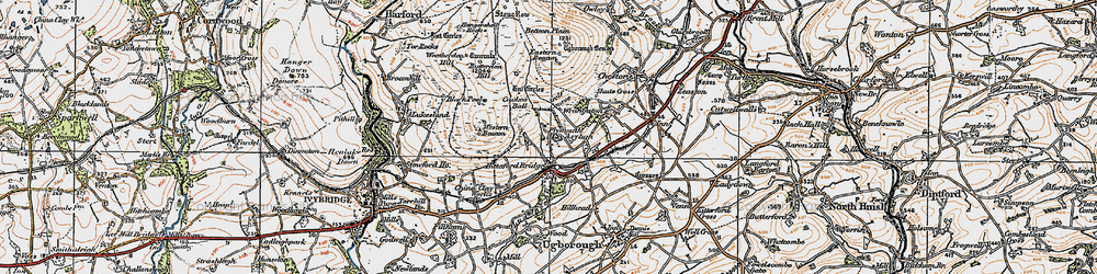 Old map of Western Beacon in 1919