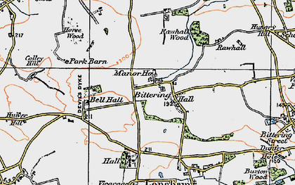 Old map of Launditch in 1921