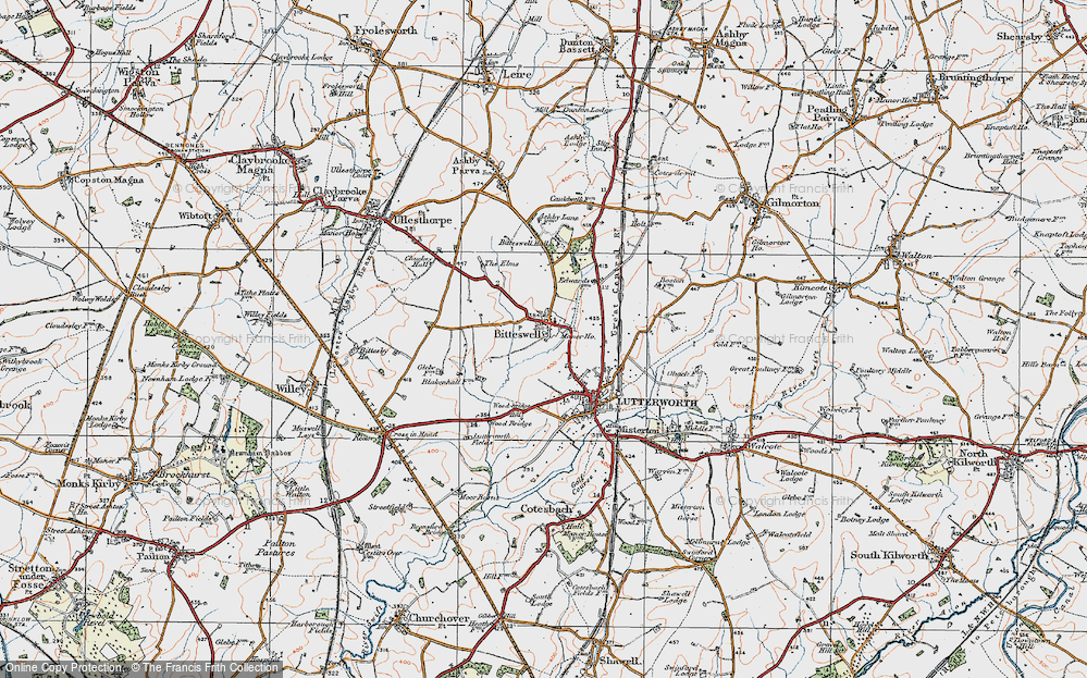 Old Map of Historic Map covering Wood Br in 1920