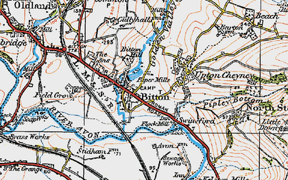 Old map of Bitton in 1919