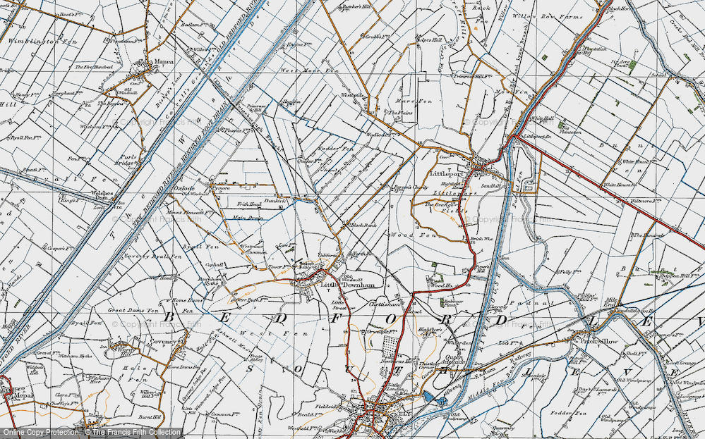 Old Map of Black Bank, 1920 in 1920