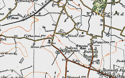 Old map of Black Carr in 1921