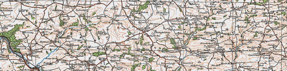 Old map of Wonham in 1919
