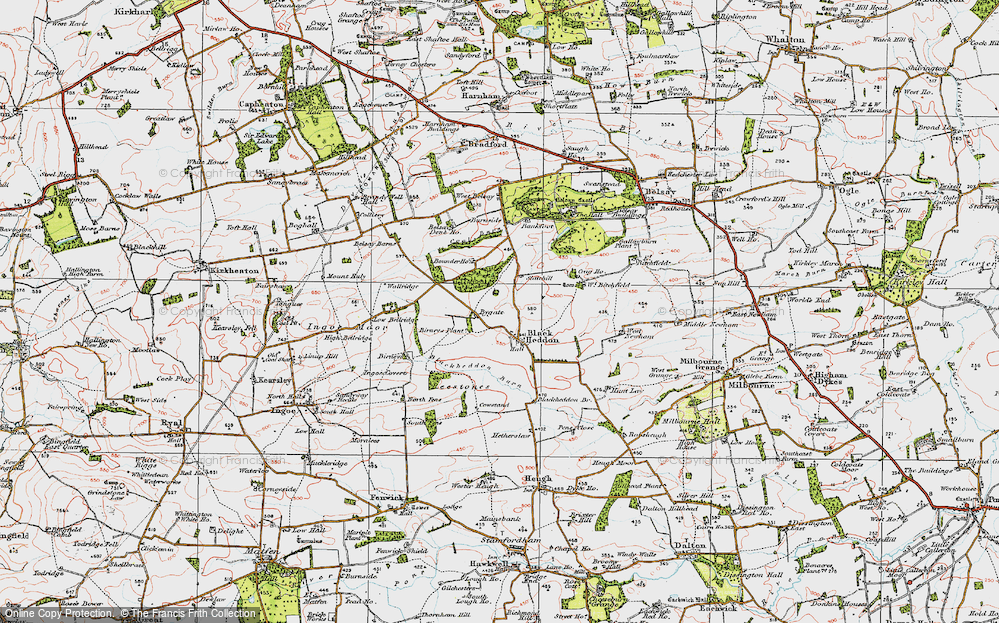 Old Map of Historic Map covering Bankfoot in 1925