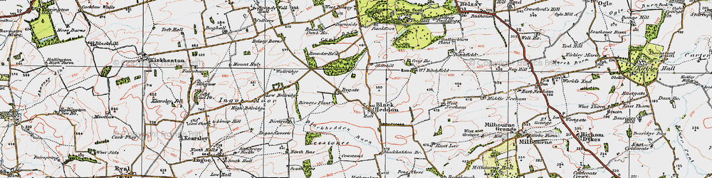 Old map of West Newham in 1925