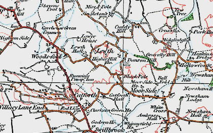 Old map of Black Pole in 1924