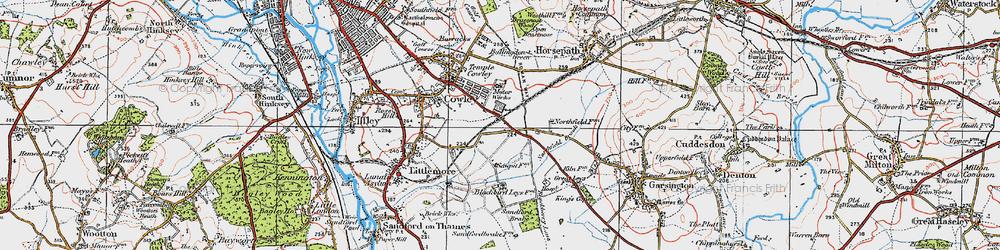 Old map of Blackbird Leys in 1919
