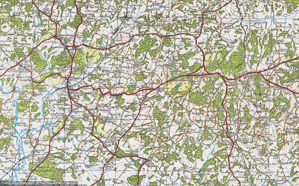 Old Map of Blackboys, 1920 in 1920