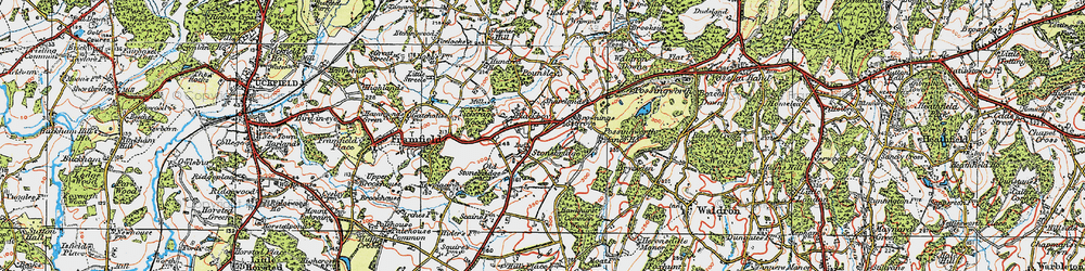 Old map of Tickerage Wood in 1920
