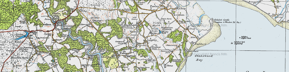 Old map of Tom's Down in 1919