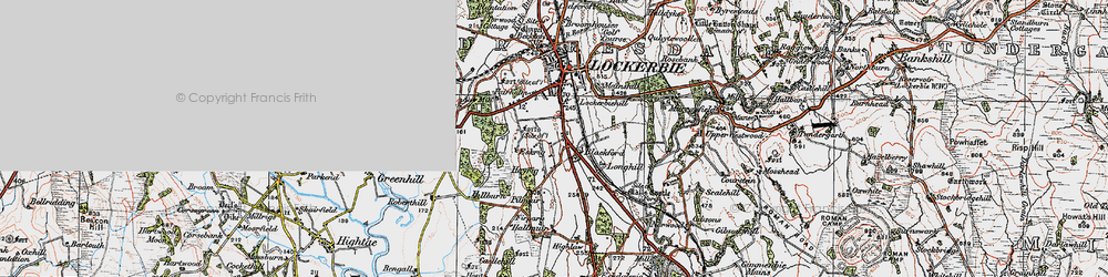 Old map of Westwood in 1925