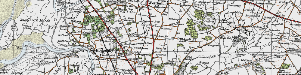 Old map of Whamtown in 1925