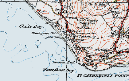 Old map of Blackgang in 1919