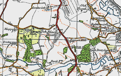 Old map of Blackheath in 1921