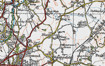 Old map of Blackhorse in 1919