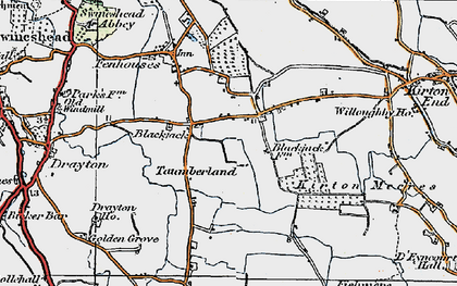 Old map of Blackjack in 1922