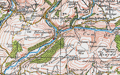 Old map of Blackmill in 1922