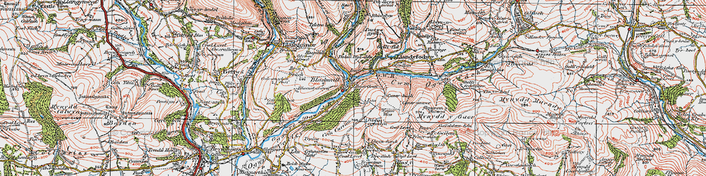 Old map of Ynyslas in 1922
