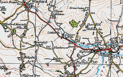 Old map of Blackmoor in 1919