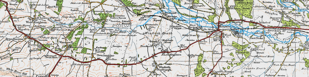 Old map of Whitcombe Vale in 1919