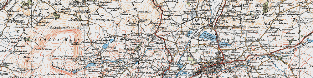 Old map of Admergill in 1924