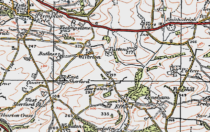 Old map of Wiverton in 1919