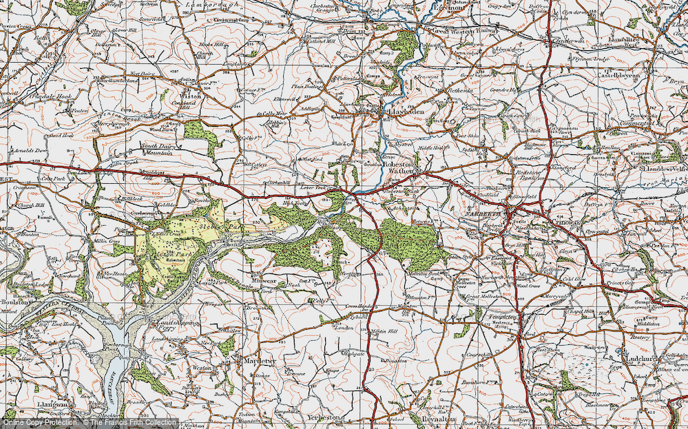 Old Map of Historic Map covering Atheston in 1922