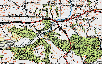 Old map of Atheston in 1922