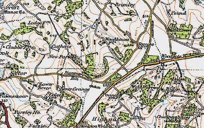 Old map of Wyld Warren in 1919